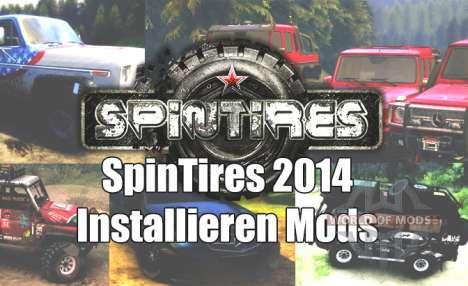 Wie installiere ich mods für Spin-Reifen 2014?