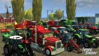 LKW, Mähdrescher und Traktoren in der Abbildung der Landwirtschafts-Simulator 2013