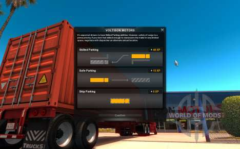 Interface de American Truck Simulator