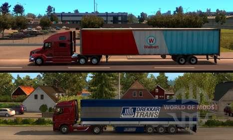 American Truck Simulator - comparaison de la longueur de la remorque
