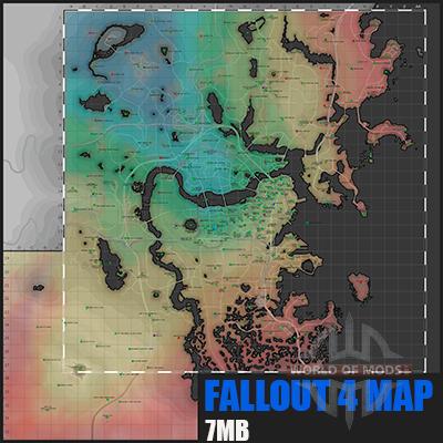 carte Détaillée de Fallout 4