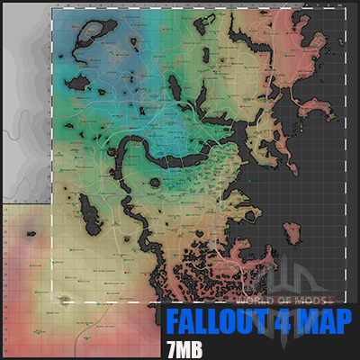 Detaillierte Karte Fallout 4