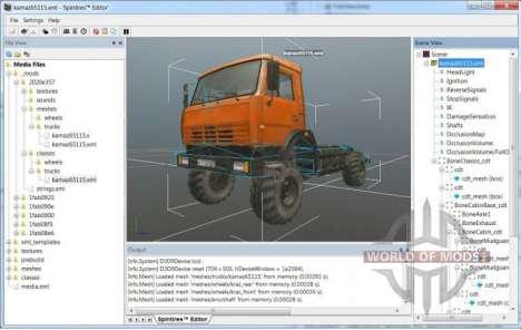 Camion modèle avec un minimum de modifications