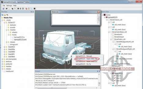 Mesh-affichage du fichier à SpinTires Éditeur