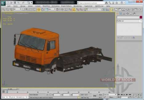 Camion vue en 3D Max