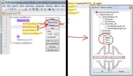 Mesh-Frames Datei-browser.