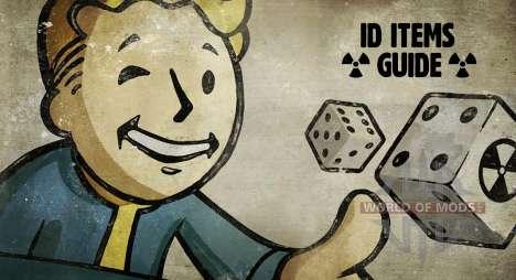 IDENTIFICATION des éléments de Fallout 4