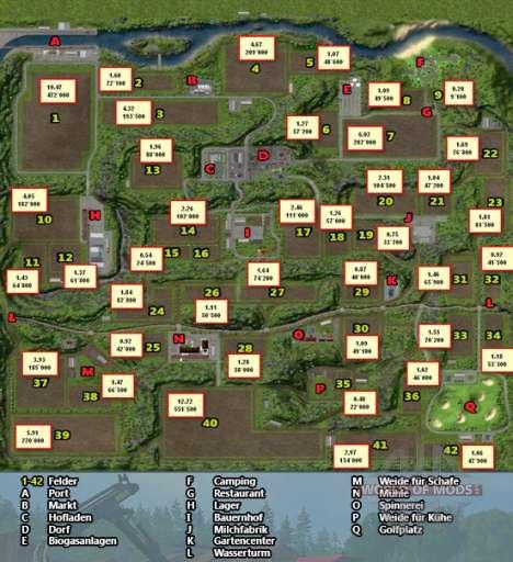 Hufeisen Karte Landwirtschafts-Simulator 2013