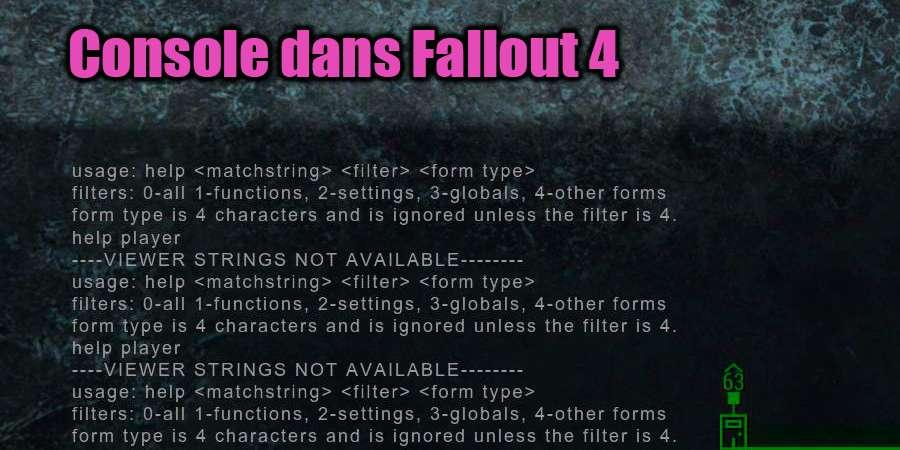 Console dans Fallout 4
