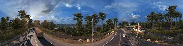 American Truck Simulator - Landschaft Autobahn panorama
