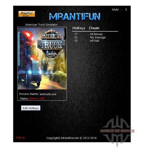 American Truck Simulator trainers de MrAntiFun