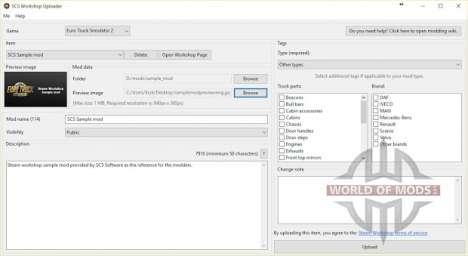 SCS-Workshop Uploader