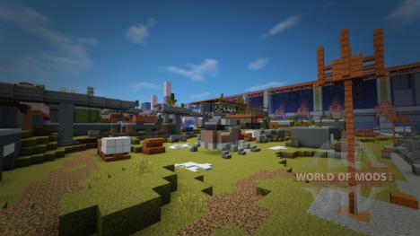 Cosmodrome de Destiny dans Minecraft