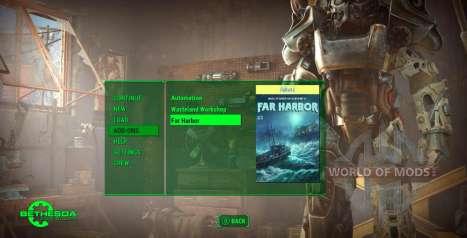 Update-Menü in Fallout 4