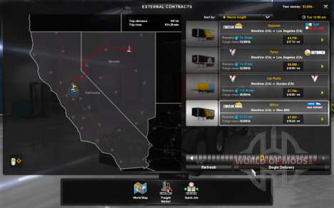 Contrats pour American Truck Simulator