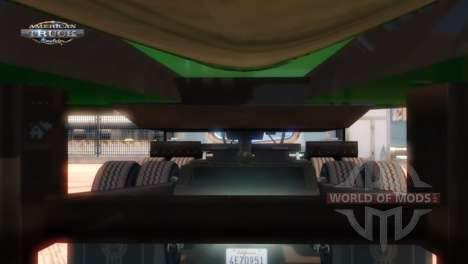 Point d'attelage d'une remorque et un camion American Truck Simulator