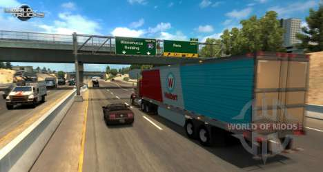 Ein screenshot aus dem American Truck Simulator update beta-test