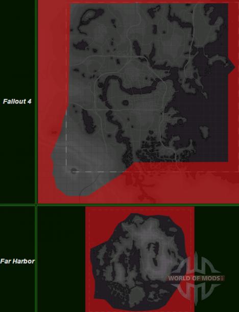 Fallout 4 und Weit Hrabor Karten vergleichen