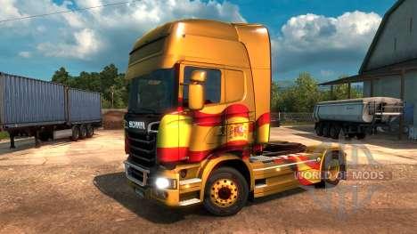 Drapeau espagnol Métallique pour Euro Truck Simulator 2