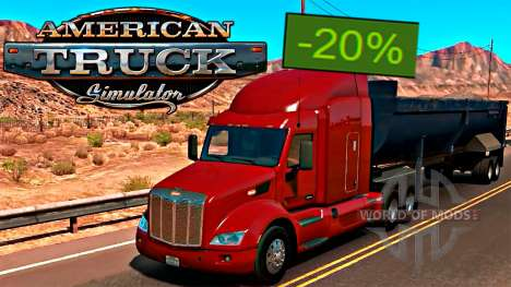 American Truck Simulator 20% de réduction sur Steam