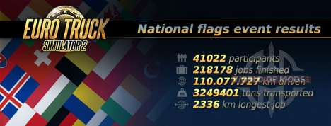 Statistik von der National Flags-Ereignis in Euro Truck Simulator 2