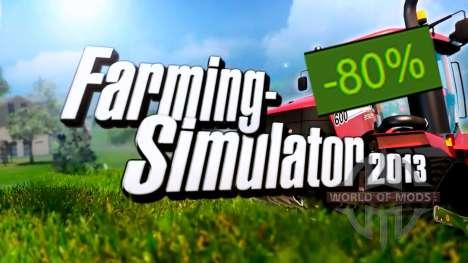 80% de Reduction sur Farming Simulator 2013
