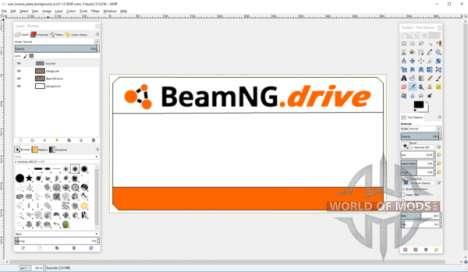 Erstellen Sie Nummernschild-Vorlage für BeamNG Drive