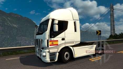 Spanische Fahne Aufkleber für Euro Truck Simulator 2