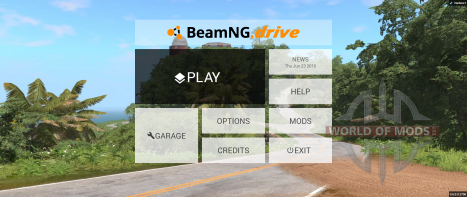 Nouveau menu principal BeamNG Drive