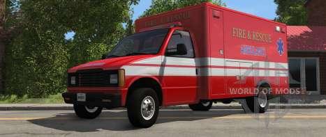 H-Série Ambulance variante de BeamNG Drive - vue de face