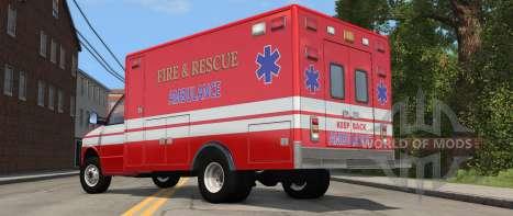 H-Série Ambulance variante de BeamNG Drive - vue arrière