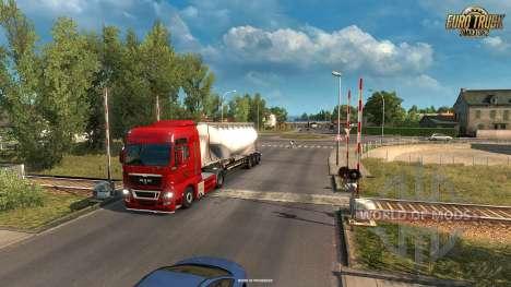 Passage à niveau dans l'Vive La France mise à jour pour Euro Truck Simulator 2