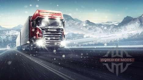 à Travers le Blizzard Euro Truck Simulator 2