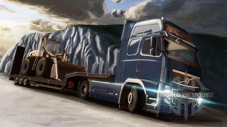 La Volvo et le Bulldozer dans Euro Truck Simulator 2