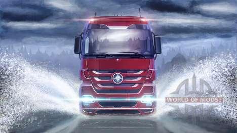 Sur la surface de l'eau dans Euro Truck Simulator 2