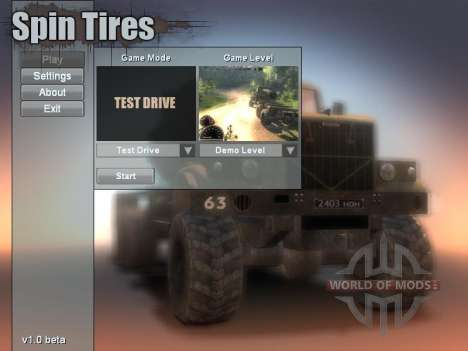 Spin Tires v1.0 beta (2009) Demo Level