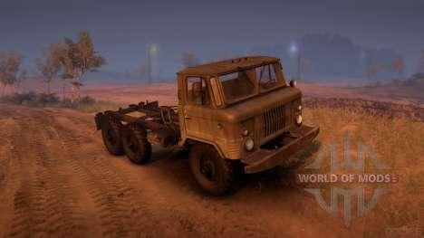 GAZ-34 (6 x 6) für Spin Tires