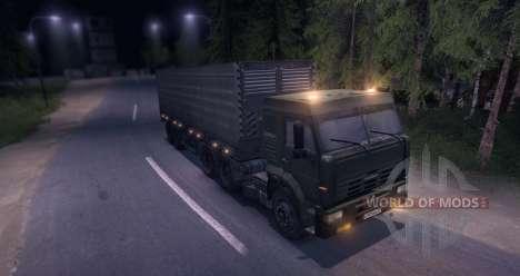 Camions avec remorque pour Spin Tires