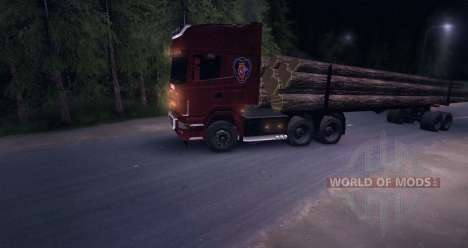 Scania R620 Logging Truck pour Spin Tires