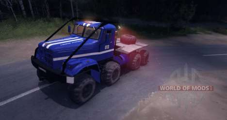 KrAZ 8 x 8 Testversion für Spin Tires