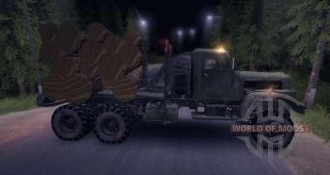 KrAZ Holz LKW Schnee alt für Spin Tires