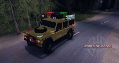 Land Rover Defender 110 CAMEL TROPHY pour Spin Tires