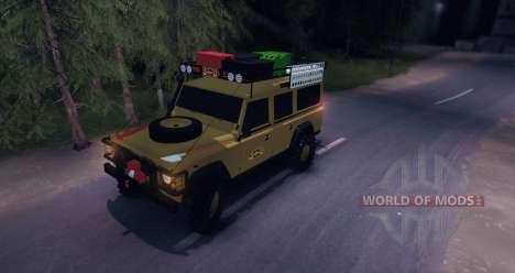 Land Rover Defender 110 CAMEL TROPHY pour Spin Tires