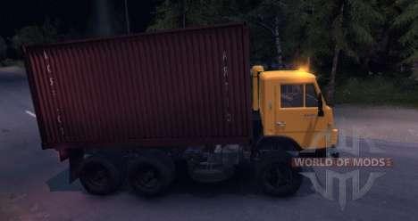 KAMAZ 55102 conteneur v2.0 pour Spin Tires