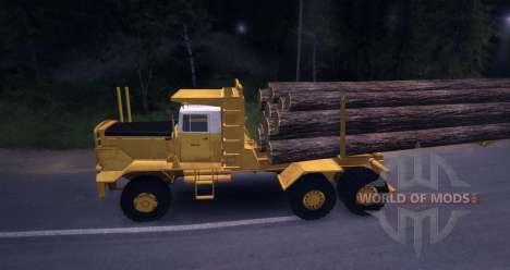 Camion bois Hayes HQ 142 (HDX) avec semi-remorqu pour Spin Tires