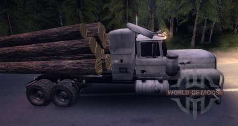 Log MACK Truck für Spin Tires
