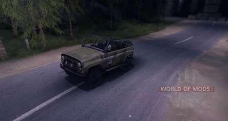 UAZ-469 v1. 0 für Spin Tires