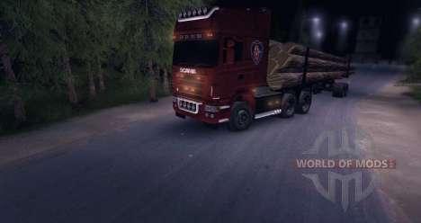 Scania R620 Logging Truck für Spin Tires