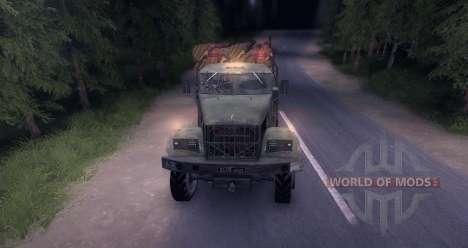 Neige de camion de bois KrAZ vieux pour Spin Tires