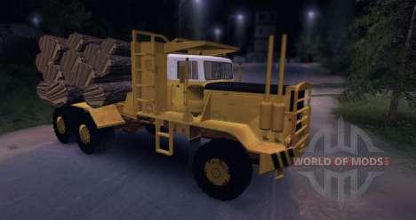 Hayes HQ 142 (HDX) Holz-LKW mit Auflieger für Spin Tires